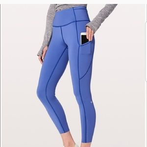Moroccan blue fast and free leggings